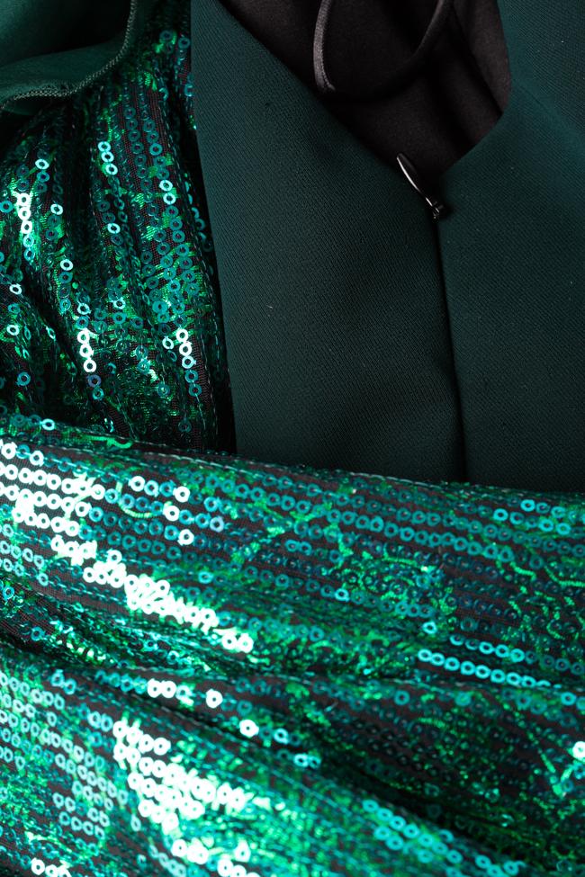 Robe en crêpe de mélange de coton avec sequins LOOMY image 4