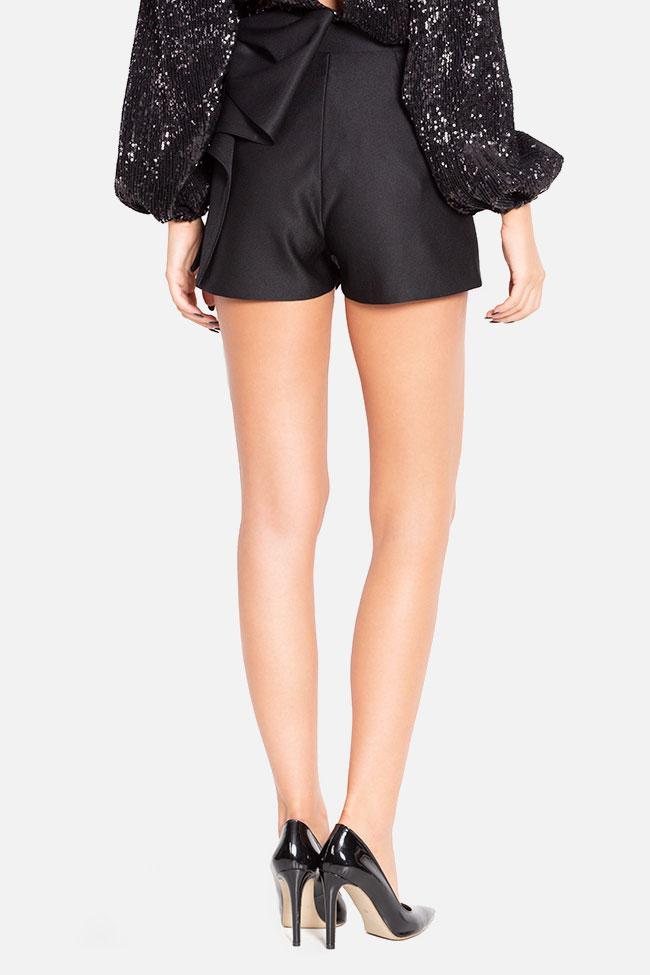 Bow-embellished wool-blend shorts Mirela Diaconu  image 2