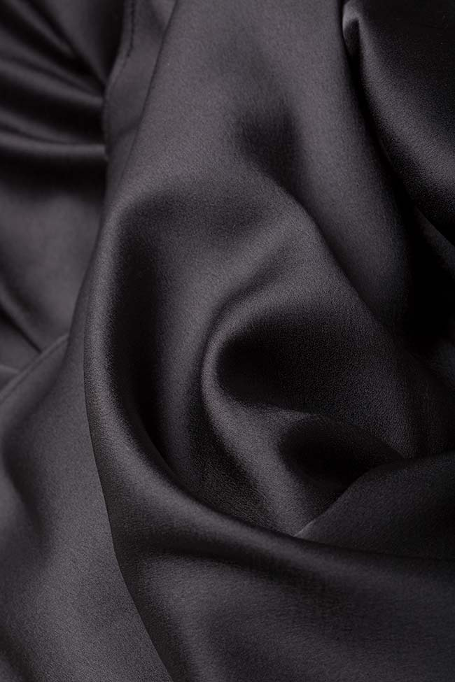 Fusta din stofa din amestec de lana cu funda Mirela Diaconu  imagine 4