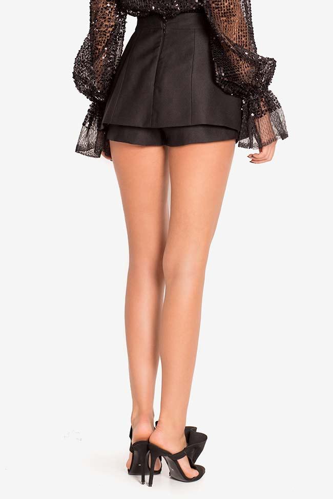 Mini-jupe short en laine Mirela Diaconu  image 2
