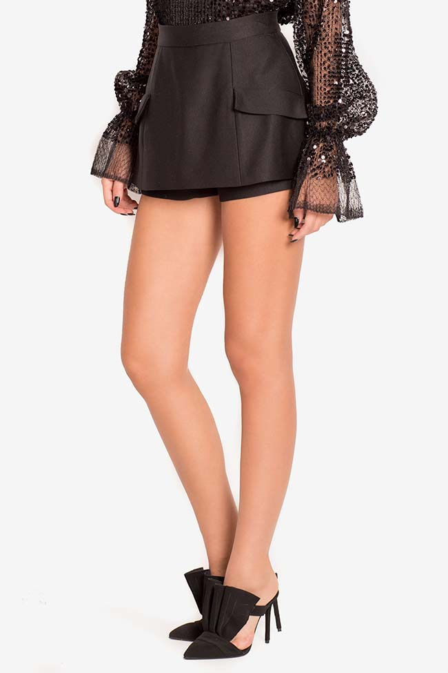 Mini-jupe short en laine Mirela Diaconu  image 0