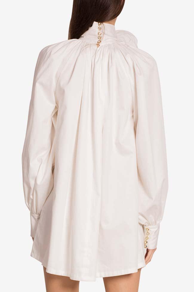 Crystal-embellished cotton-blend poplin mini dress LOOMY image 2