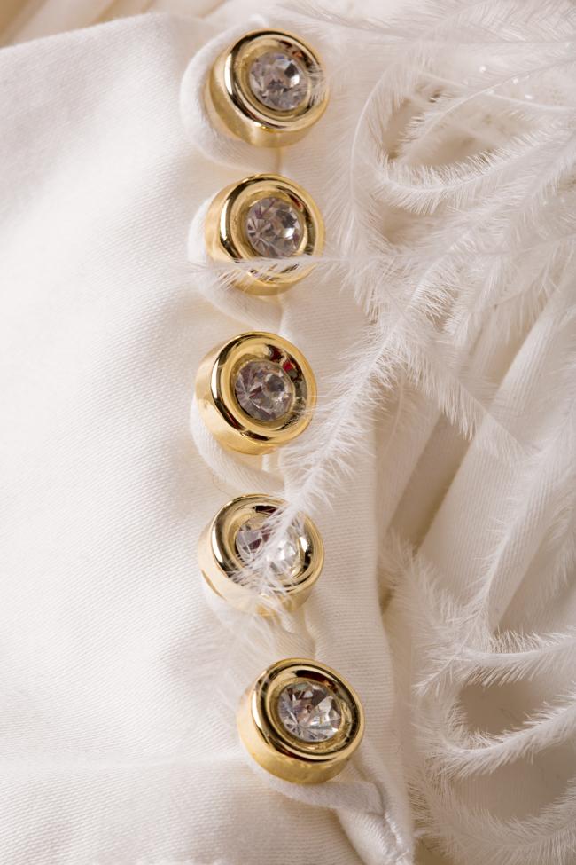 Crystal-embellished cotton-blend poplin mini dress LOOMY image 4