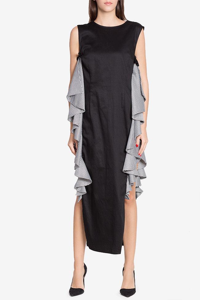 Robe asymétrique en popeline de coton avec imprimé LOOMY image 1