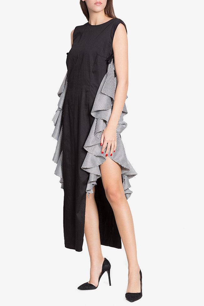 Robe asymétrique en popeline de coton avec imprimé LOOMY image 0