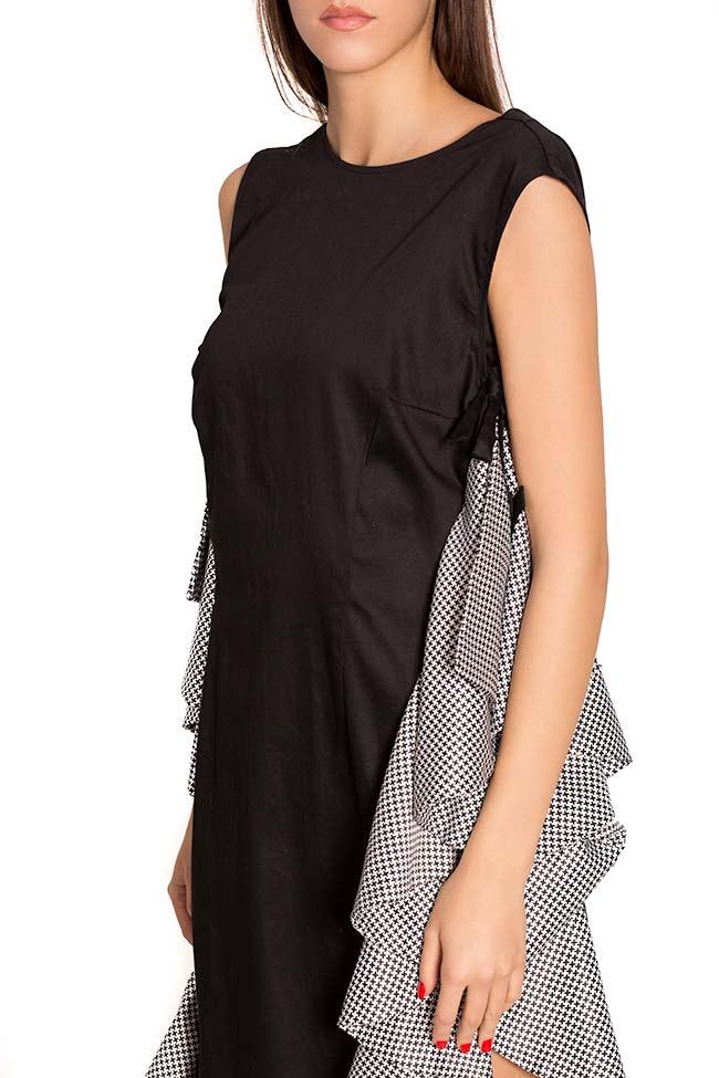 Robe asymétrique en popeline de coton avec imprimé LOOMY image 3