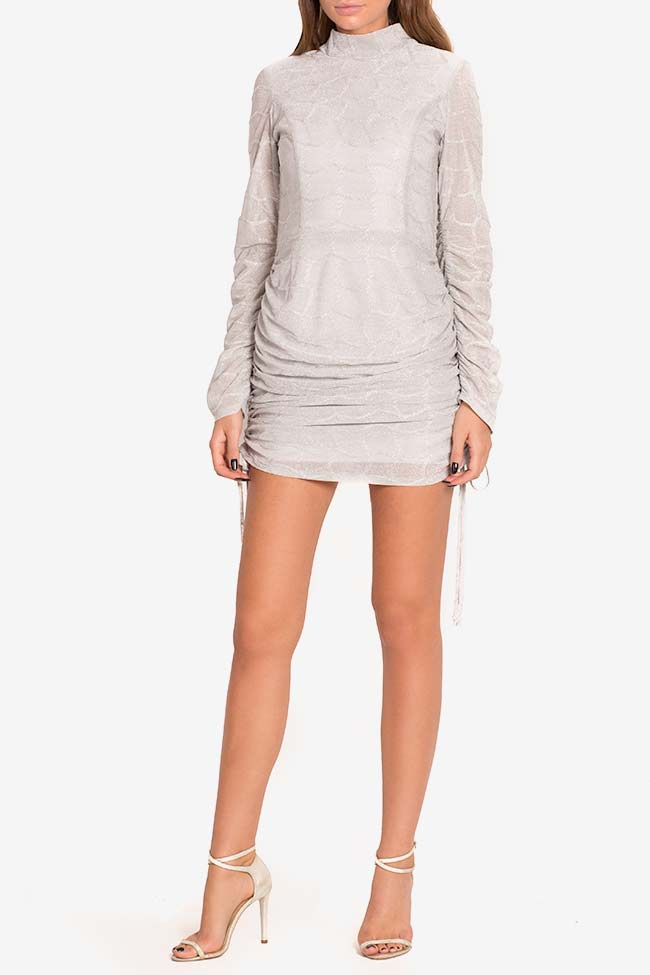 Metallic jersey mini dress LOOMY image 1