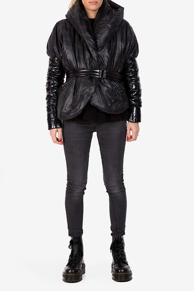 Hooded quilted shell jacket Edita Lupea image 1