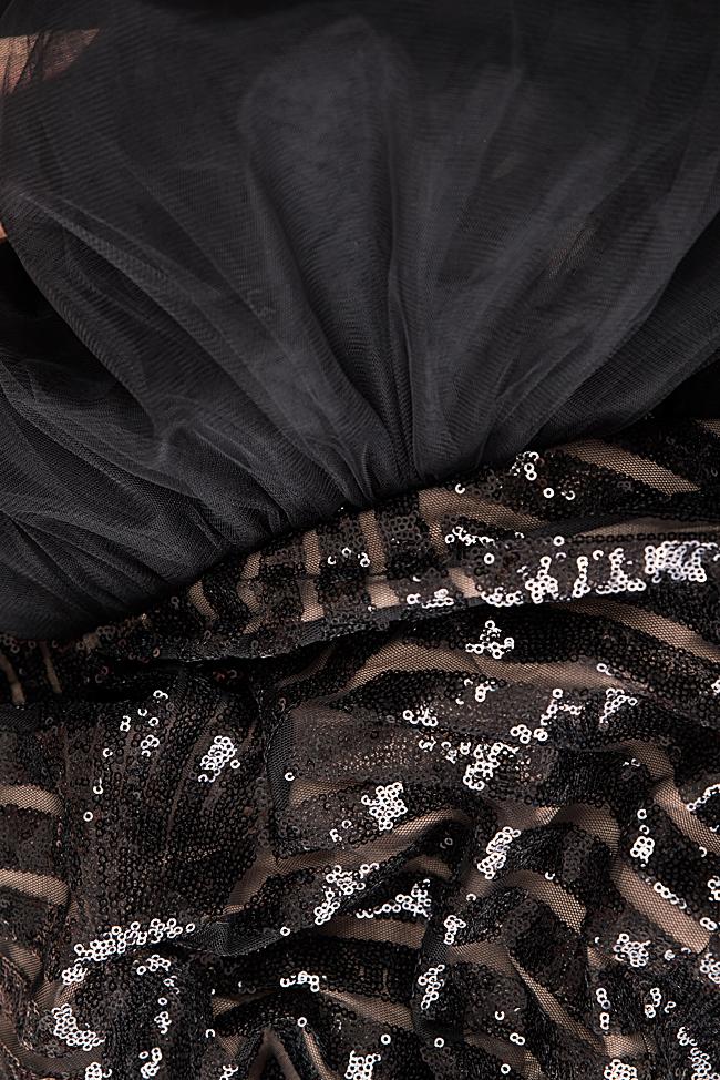 Rochie din tul brodata cu paiete Alesia Bien Savvy imagine 4