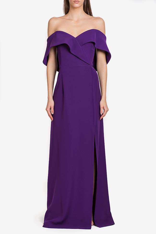 Off-the-shoulders ruffled crepe gown Alfabeta image 1