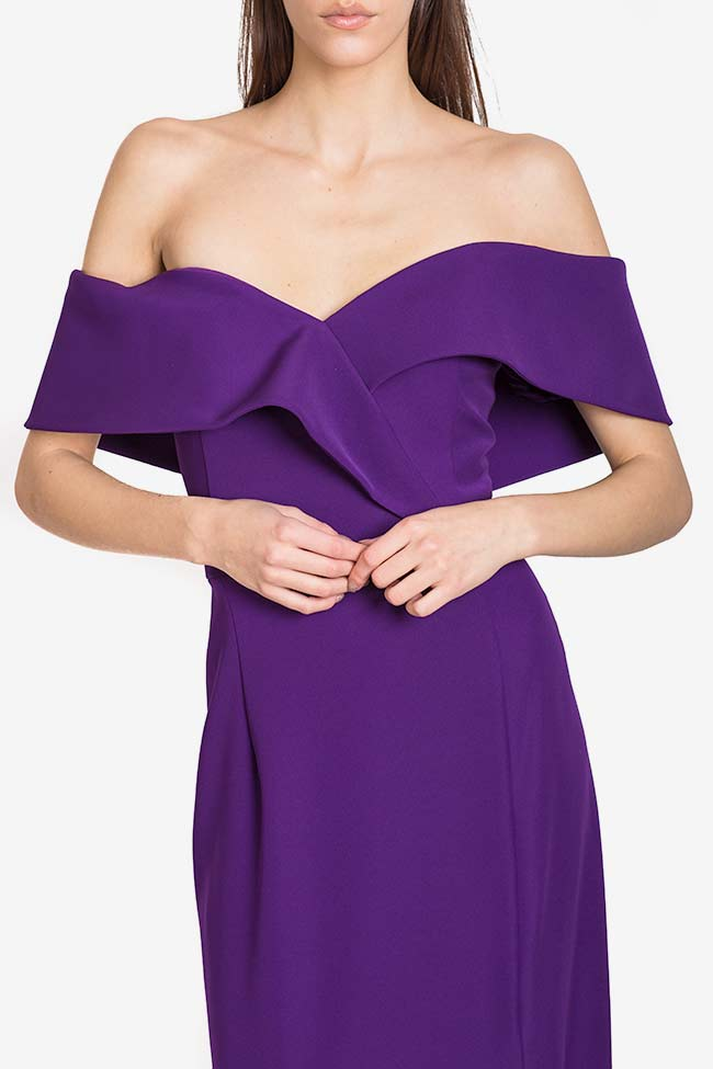 Off-the-shoulders ruffled crepe gown Alfabeta image 3