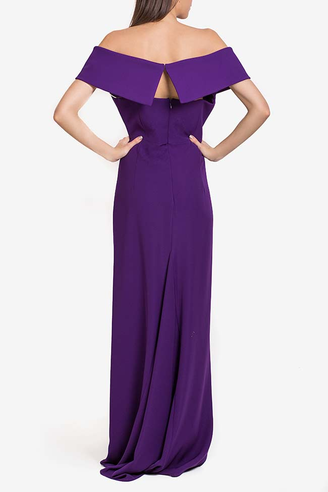Off-the-shoulders ruffled crepe gown Alfabeta image 2