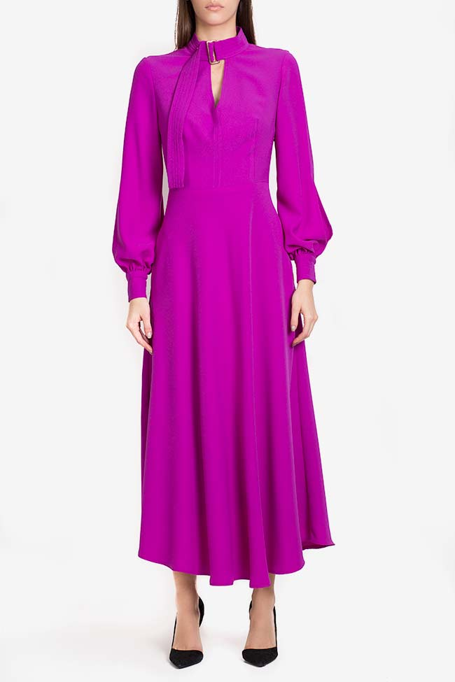 Cutout crepe midi dress Exquise image 1