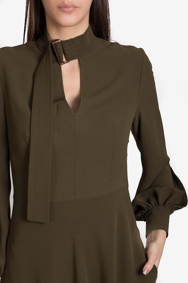 Cutout crepe midi dress Exquise image 3