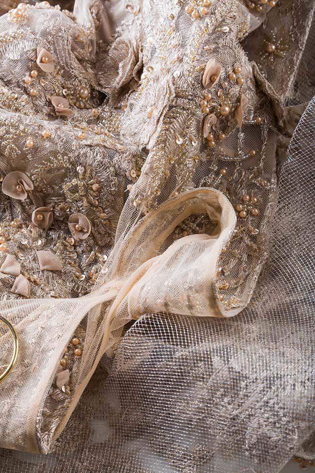 Robe en tulle avec applications en dentelle florale Alfabeta image 4