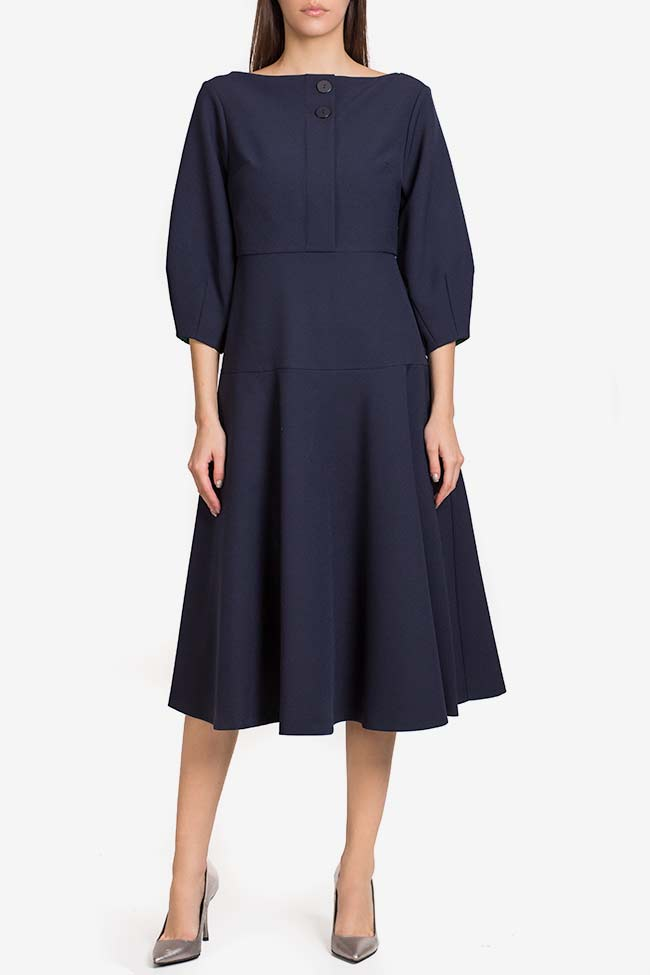Button crepe midi dress Exquise image 1