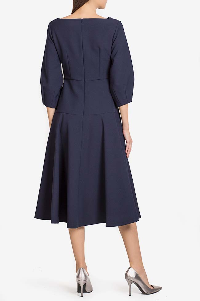 Button crepe midi dress Exquise image 2