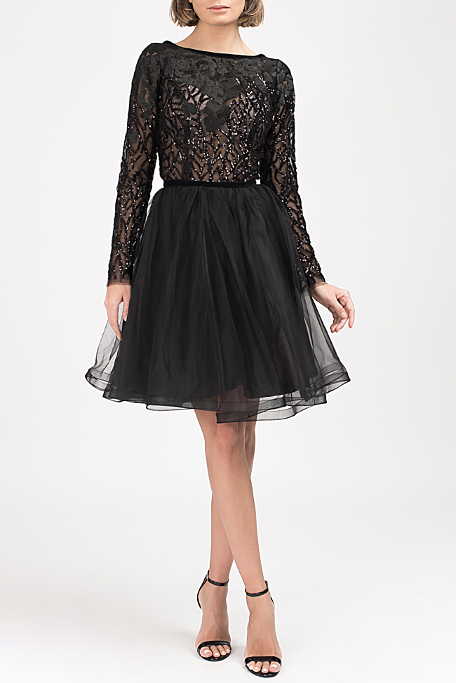 Embellished lace and tulle mini dress Bien Savvy image 1