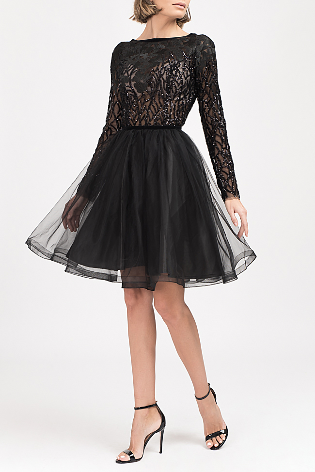 Embellished lace and tulle mini dress Bien Savvy image 0