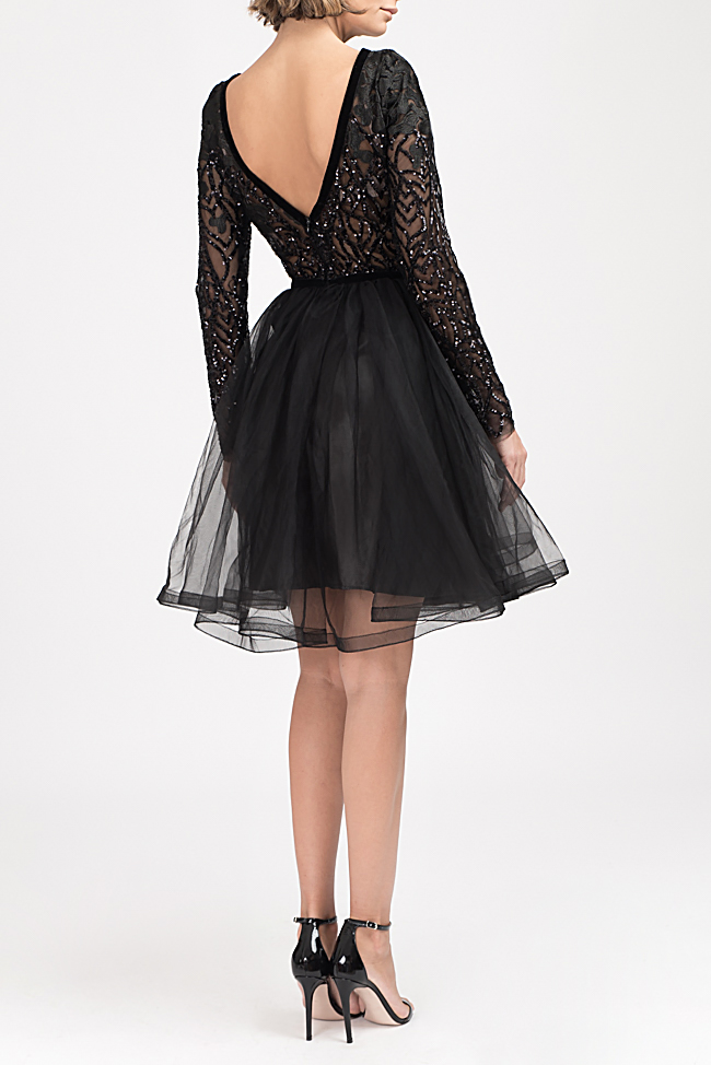 Embellished lace and tulle mini dress Bien Savvy image 2