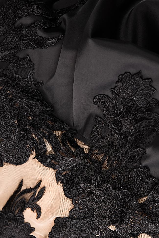 Robe en taffetas et dentelle avec traîne détachable en tulle Bien Savvy image 5