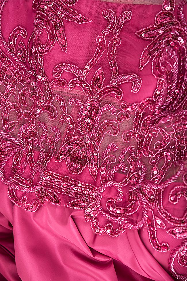 Robe en taffetas et dentelle avec applications de perles Bien Savvy image 4