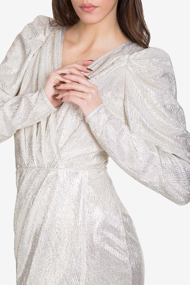 Cutout ruched lamé mini dress Essa Lian image 3