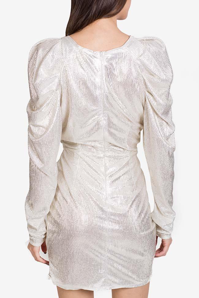 Cutout ruched lamé mini dress Essa Lian image 2