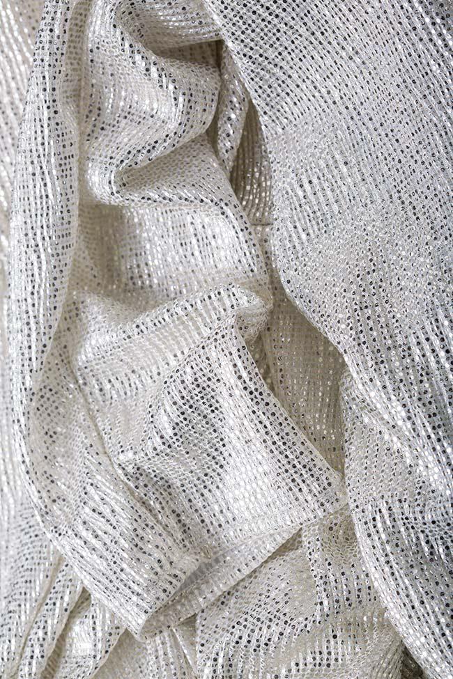 Cutout ruched lamé mini dress Essa Lian image 4