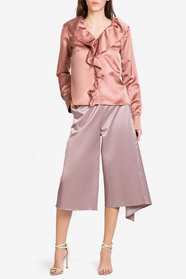 Silk-blend ruffled shirt DALB by Mihaela Dulgheru image 1