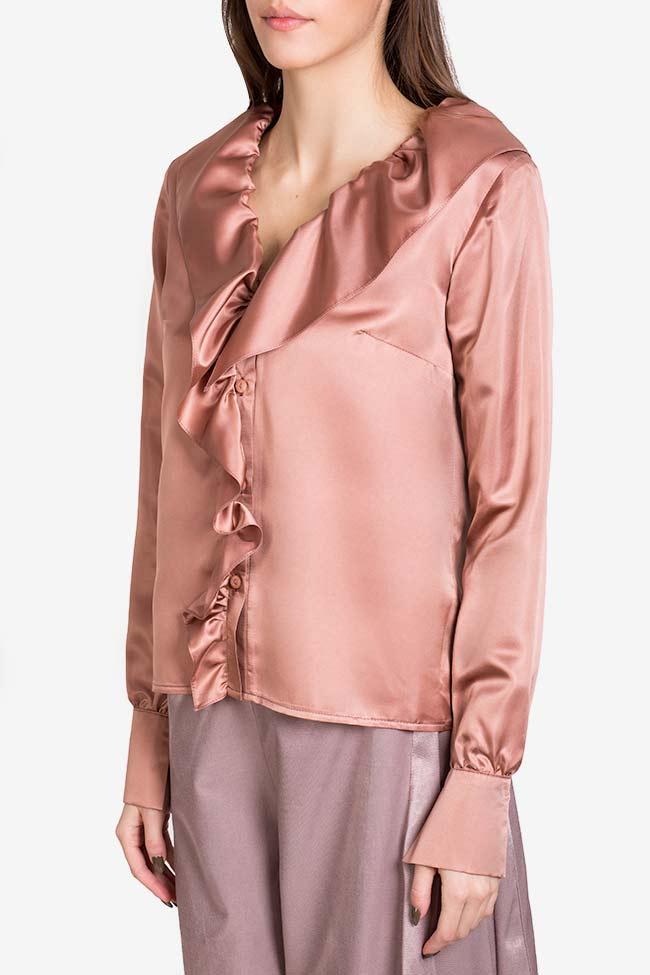 Silk-blend ruffled shirt DALB by Mihaela Dulgheru image 0
