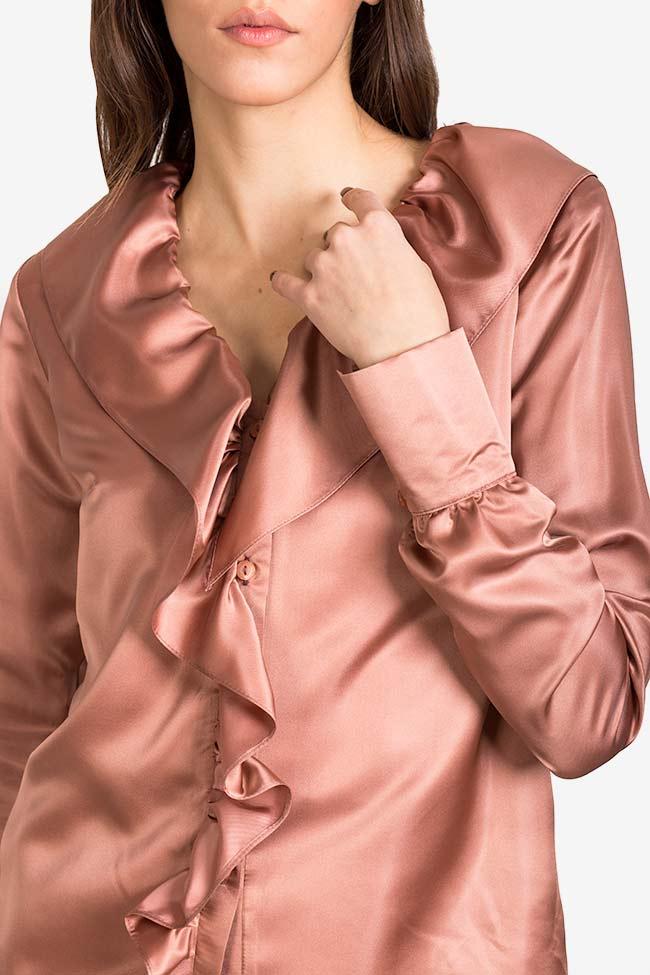 Silk-blend ruffled shirt DALB by Mihaela Dulgheru image 3