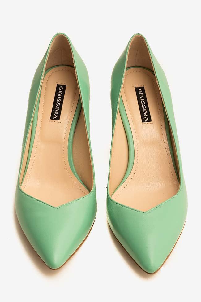 Pantofi din piele cu toc Alice60 Ginissima imagine 2
