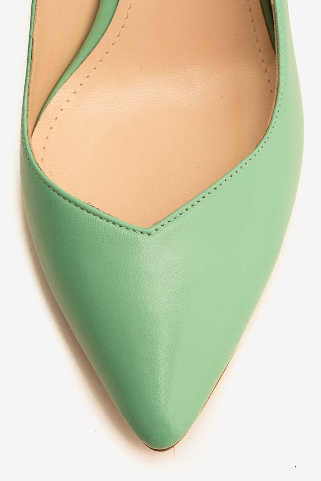 Pantofi din piele cu toc Alice60 Ginissima imagine 3
