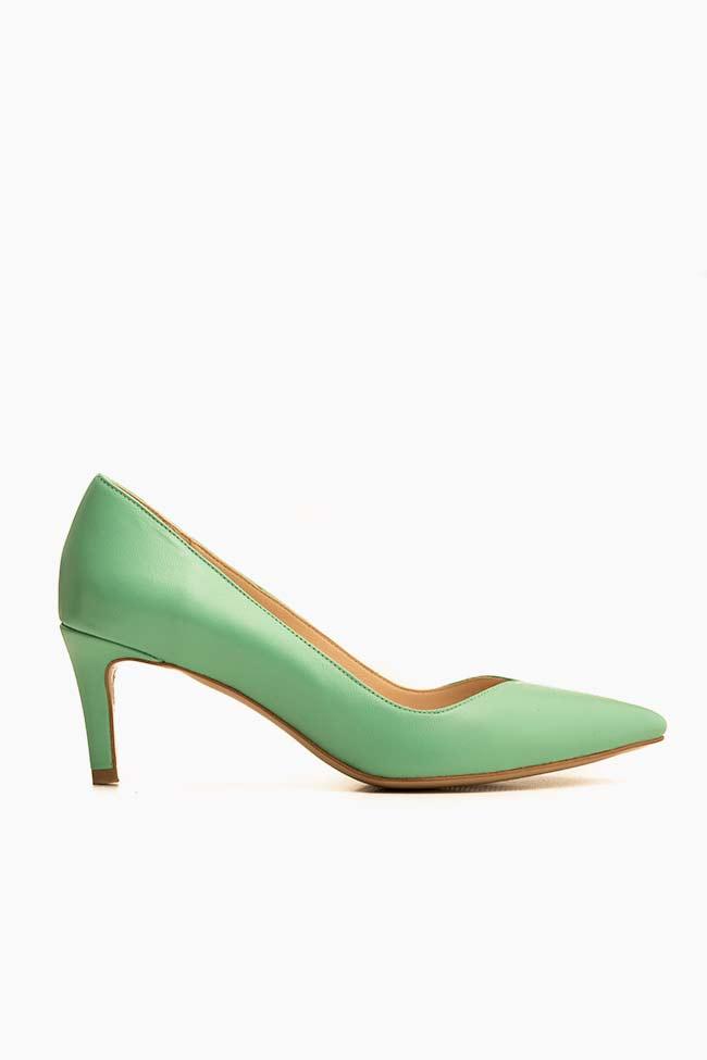 Pantofi din piele cu toc Alice60 Ginissima imagine 0