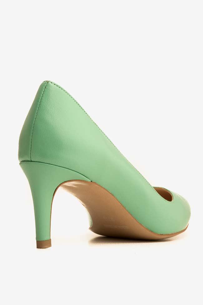 Pantofi din piele cu toc Alice60 Ginissima imagine 1