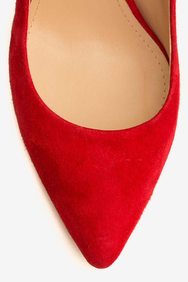 Pantofi din piele intoarsa cu toc Alice60 Ginissima imagine 3