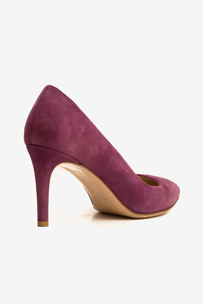 Pantofi din piele intoarsa cu toc Alice60 Ginissima imagine 1