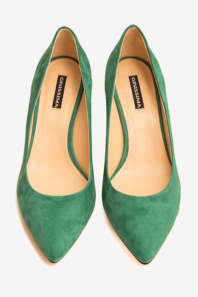 Pantofi din piele intoarsa cu toc Alice60 Ginissima imagine 2