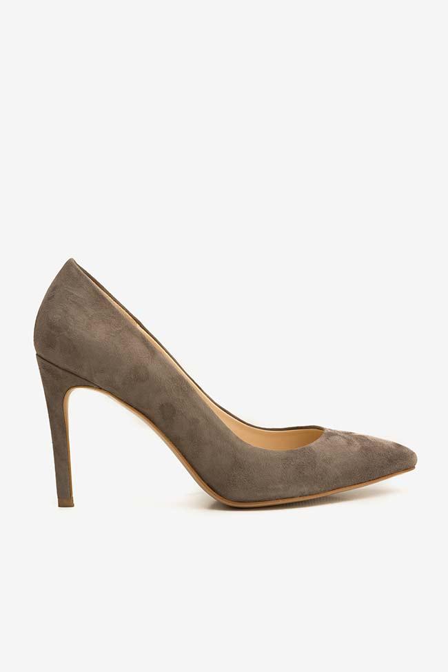 Pantofi din piele intoarsa cu toc Alice60 Ginissima imagine 0