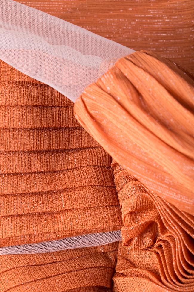 Robe en voile plissé avec empiècements de tulle Verona Maia Ratiu image 4