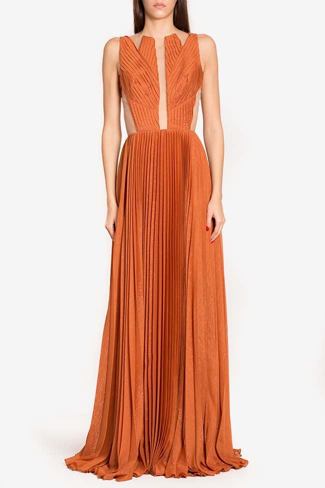 Robe en voile plissé avec empiècements de tulle Verona Maia Ratiu image 1