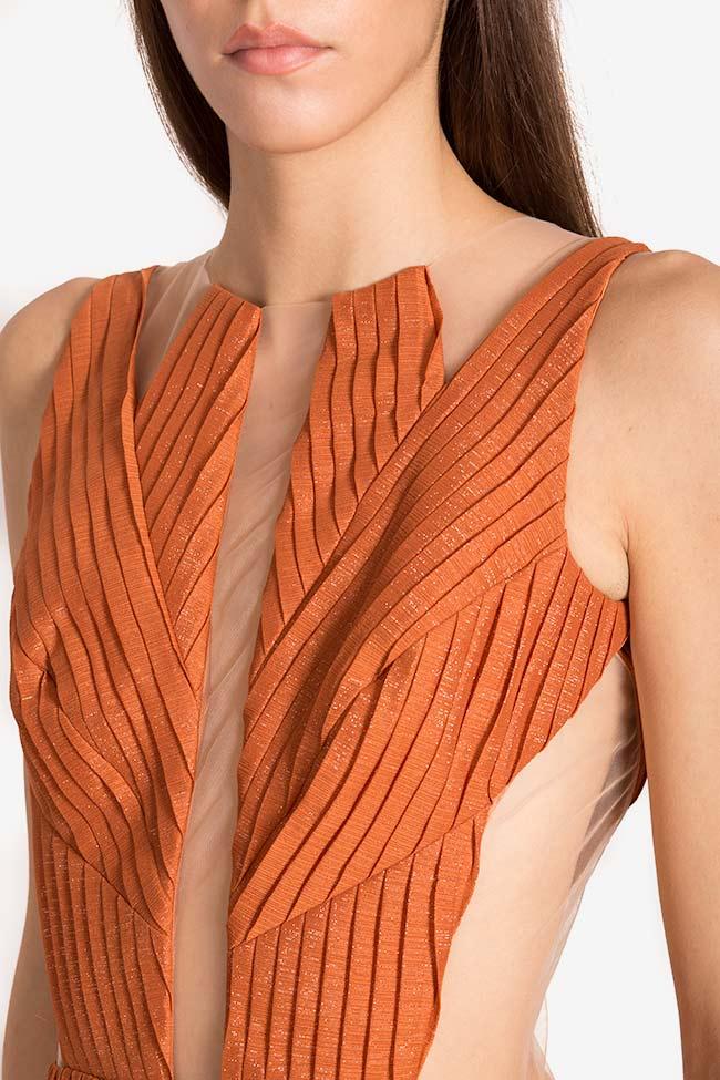 Robe en voile plissé avec empiècements de tulle Verona Maia Ratiu image 3