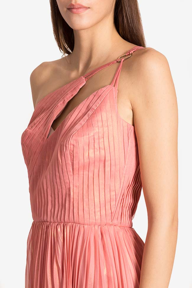 Azore metallic plissé georgette maxi dress Maia Ratiu image 3