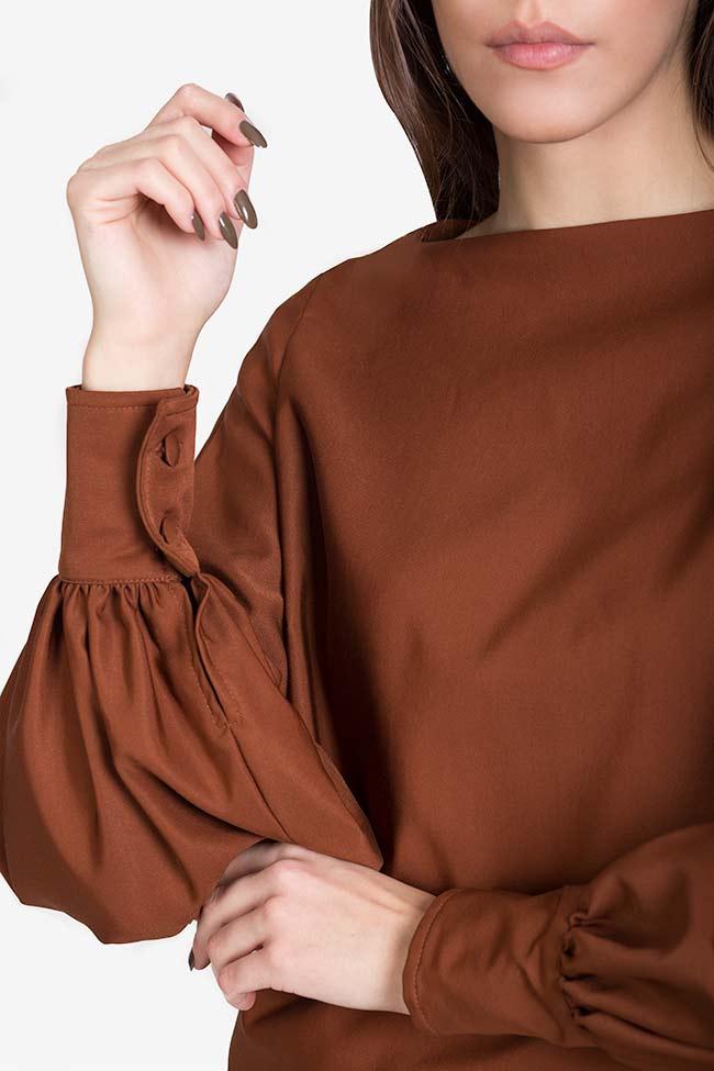 Bluza din amestec de matase si bumbac Amber Carmina Cimpoeru imagine 3