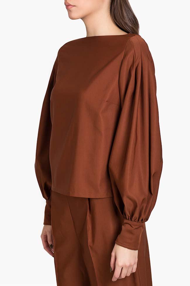 Bluza din amestec de matase si bumbac Amber Carmina Cimpoeru imagine 0