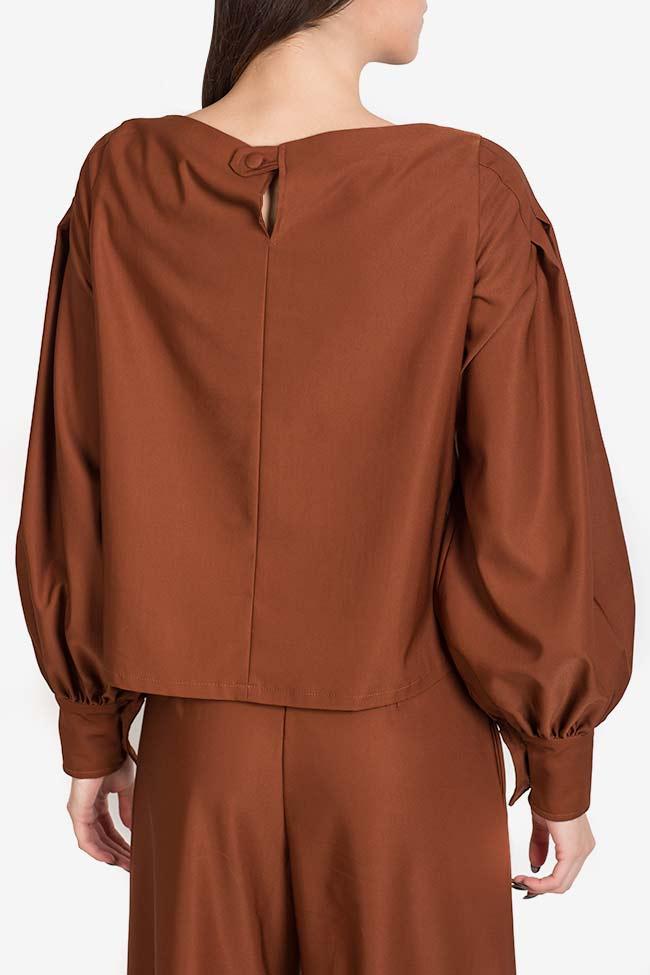 Bluza din amestec de matase si bumbac Amber Carmina Cimpoeru imagine 2