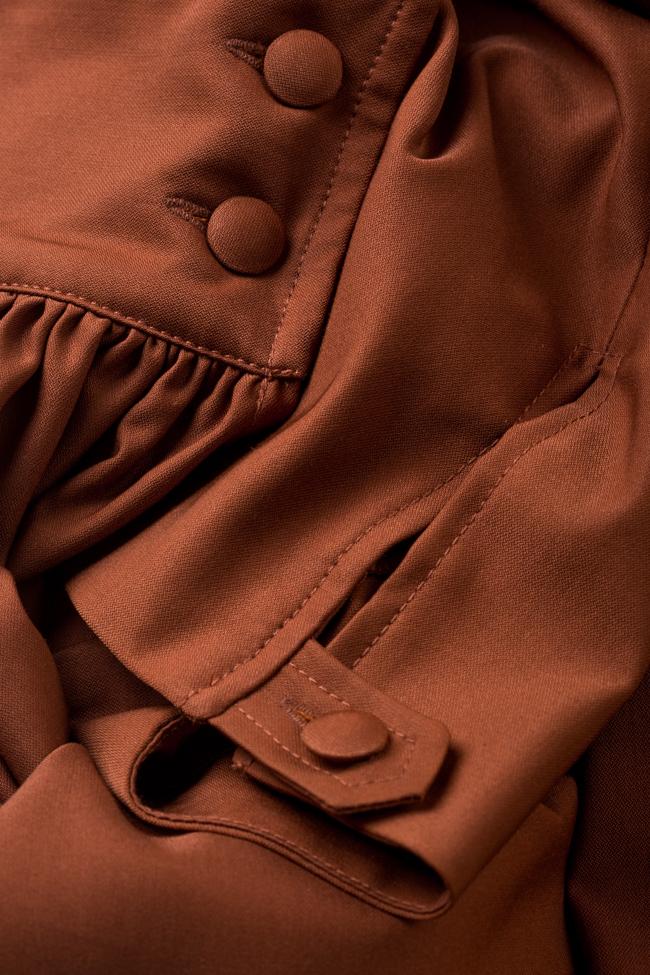 Bluza din amestec de matase si bumbac Amber Carmina Cimpoeru imagine 4