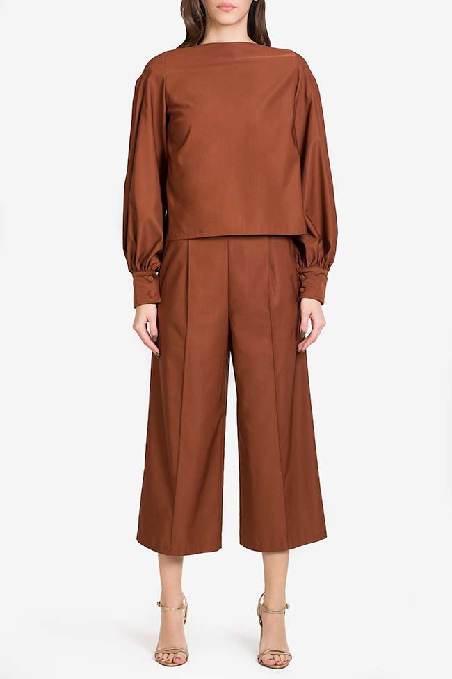 Pantalon en mélange de soie et coton Amber Carmina Cimpoeru image 1