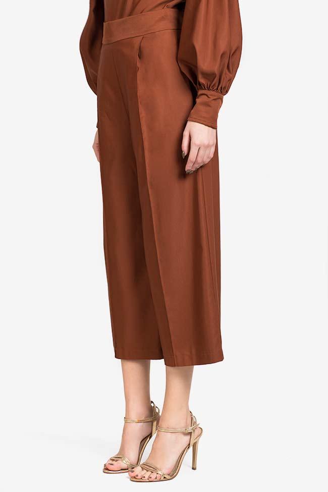 Pantalon en mélange de soie et coton Amber Carmina Cimpoeru image 0
